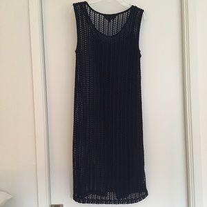 Great Plains London - Navy Blue Open-Knit Dress